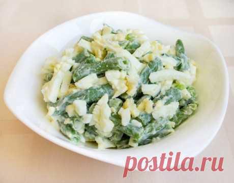 Салат из зеленой фасоли с яйцами — Sloosh – кулинарные рецепты