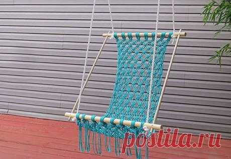 Hammock for giving from a rope the hands. How to weave a hammock most | Housekeeping for all family.