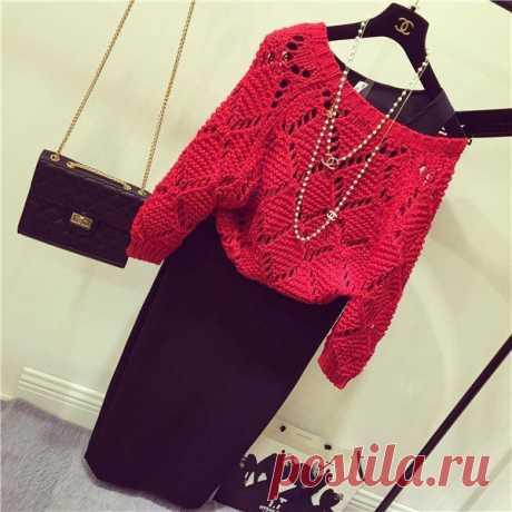 Вяжем стильный свитерок