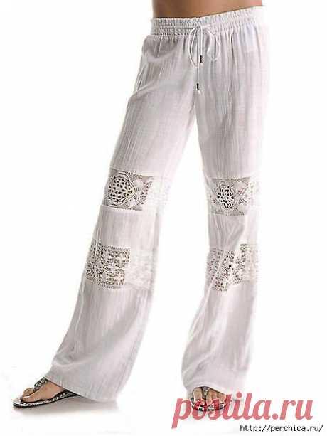 Идеи для комбинирования одежды с вязаным кружевом.