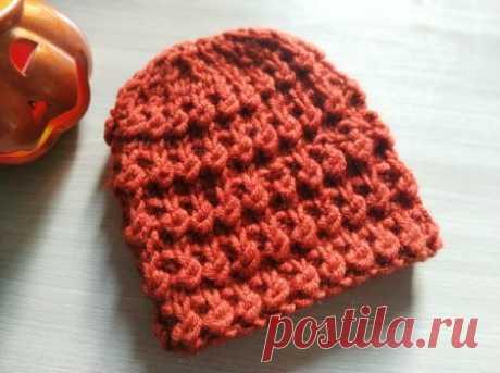 Теплая и мягкая шапка спицами на осень-зиму » «Хомяк55» - всё о вязании спицами и крючком