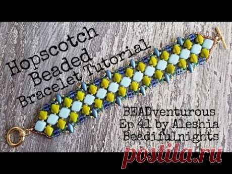 Hopscotch Beaded Bracelet Tutorial BEADventurous Ep 41