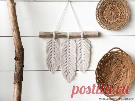 Перья для декора и украшений из ниток и джинсов. Идеи, мастер-классы