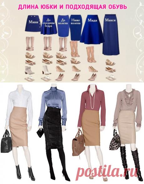 Какая обувь подходит под юбки разной длины?