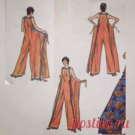 Интересное платье, без бокового шва + Комбинезон и фартук. |