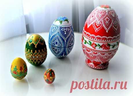 Пасхальное яйцо-матрешка. (в частной коллекции в Великобритании)