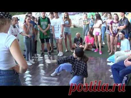 Street dance: Hip Hop battle b-girls Rina vs Avice. Extreme summer-2016 in Sumy - YouTube