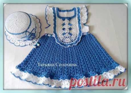Летнее платье для девочки  Автор на фото