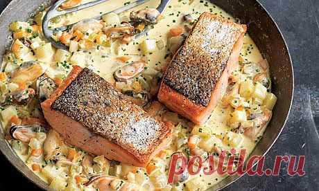 Рецепт лосося с мидиями. Позволительная роскошь. Что приготовить из мидий и лосося | Drink&Food Inform. Рецепты блюд, коктейлей и кулинарные идеи