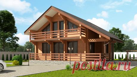 Типовые проекты и цены на дома из клееного бруса под ключ - заказать дом из бруса в компании Алтайлес. Алтайский Дом