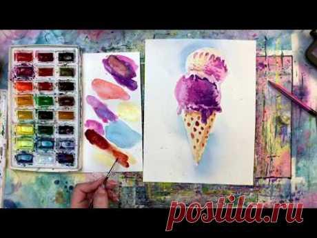 Как нарисовать мороженое. День 22. 365арт дней