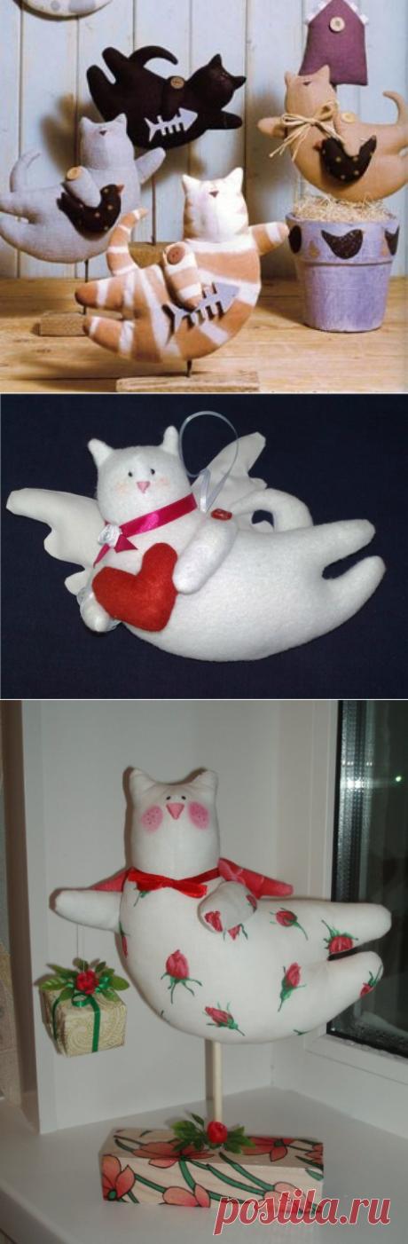 Куклы Тильда! Летящие коты - самое стильное украшение дома!!! Мастер-класс и очень-очень много идей!