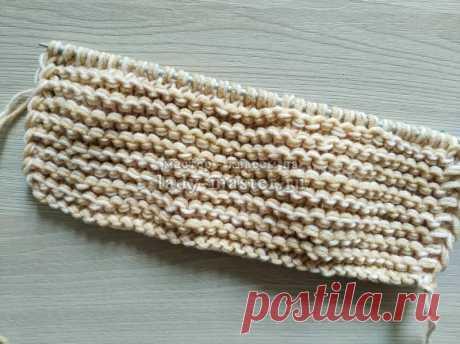 Описание вязания домашних тапочек спицами