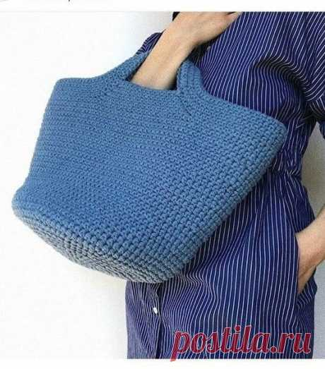 Удобная летняя сумочка. Крючком. Схемы. / knittingideas.ru