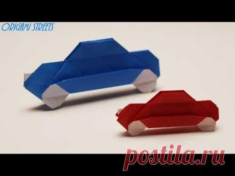 Оригами автомобиль из бумаги