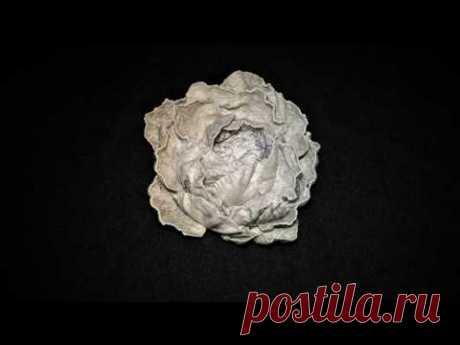 Цветок из бумаги без специальных инструментов. Скрапбукинг, ч.12