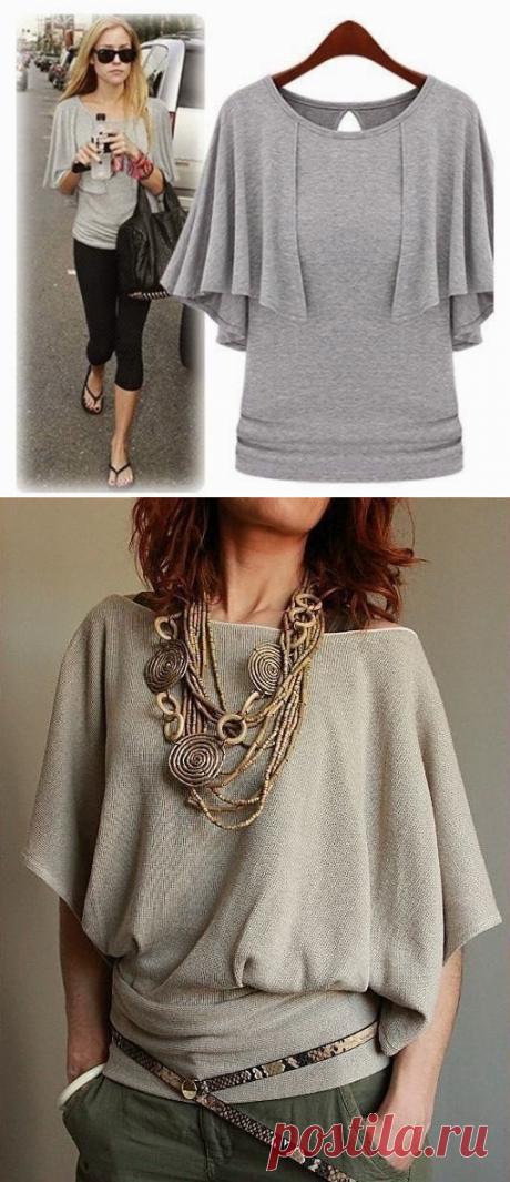 Простые в пошиве трикотажные блузы — Сделай сам, идеи для творчества - DIY Ideas