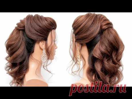 How to: Curly ponytail.Bridal hairstyle. [Hair tutorial]