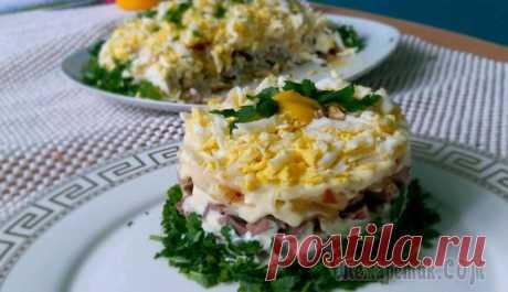 Салат Орландо из говяжьего языка Вкусный и красивый салатик.
