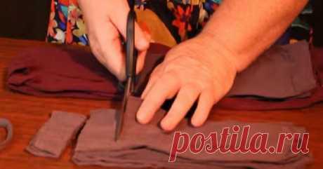Она разрезала старые капроновые колготки... Результат удивил даже опытных хозяек! Колготки в руках мастера.