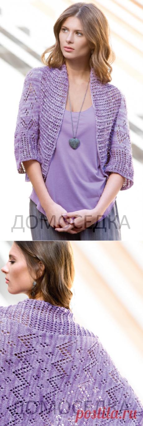 Красивый шраг спицами | ДОМОСЕДКА