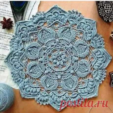 Красивая салфетка c 3D узором или ковер? | Anna Gri Crochet | Яндекс Дзен