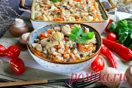 Перловка с курицей в духовке рецепт с фото пошагово - 1000.menu