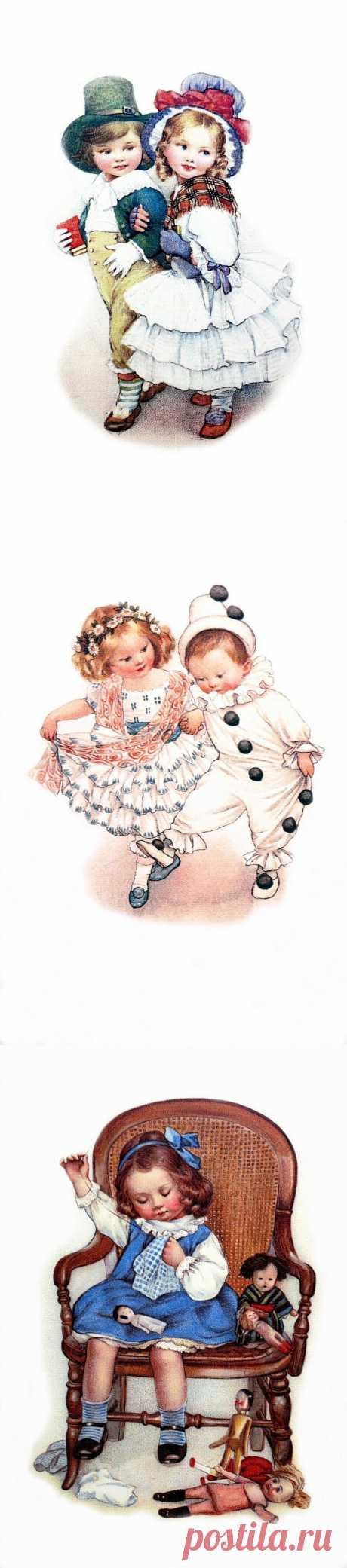 Ретро открытки с детками.