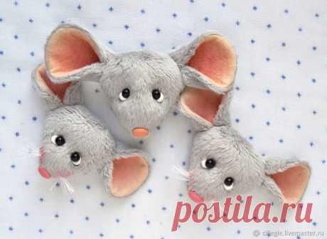Создаём уютную мышко-брошку   Журнал Ярмарки Мастеров