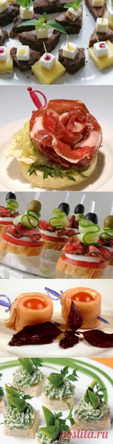 Проверенные салаты .ru - Красивые рецепты канапе