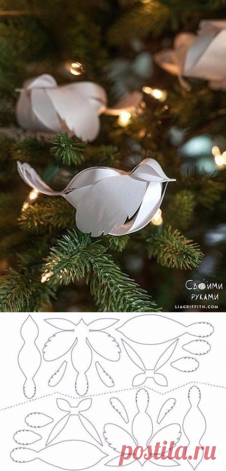 Восхитительные птички из бумаги+ шаблон