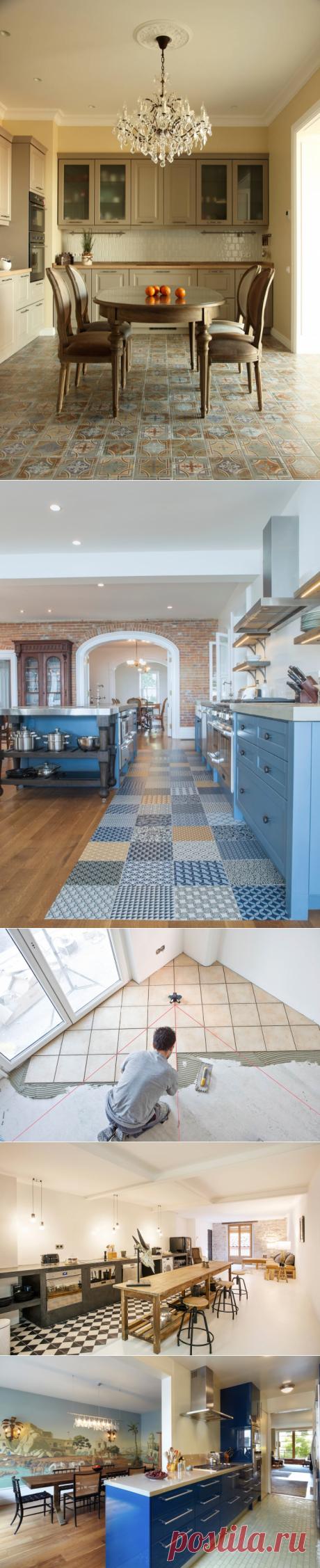 Выбор плитки для кухонного пола | Роскошь и уют