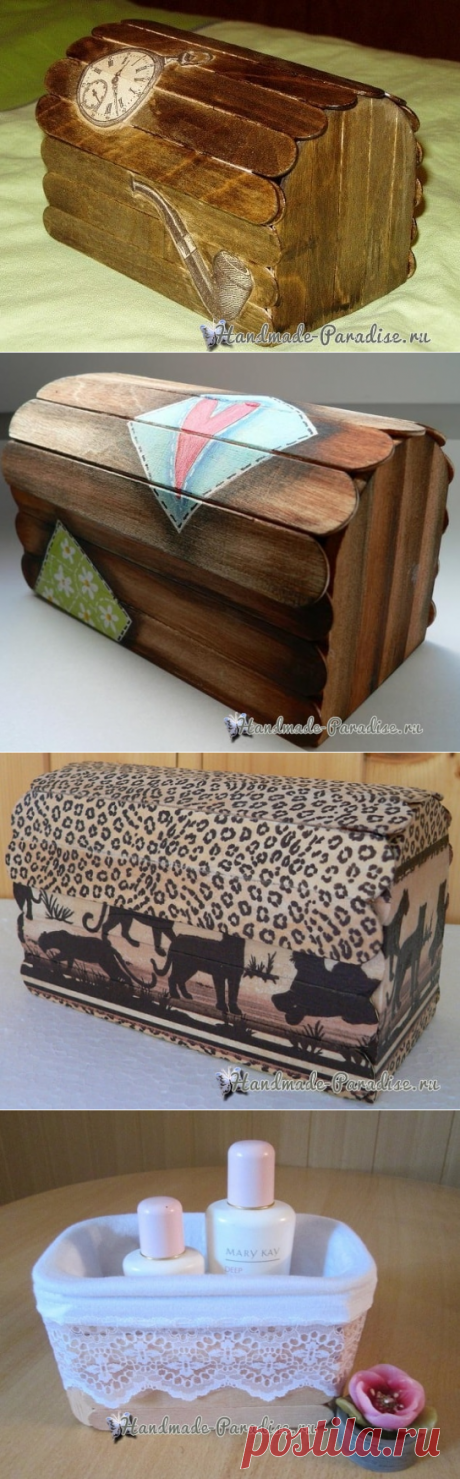 Boxes from medical pallets the hands - Handmade-Paradise