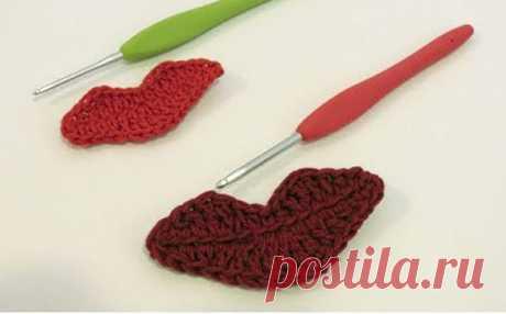 Вязаные губы для куклы Вязаные крючком губы для куклы. Схема и видео-урок