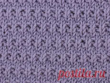 Узор: мелкая плетенка лицевыми и изнаночными петлями - crafty-box.com