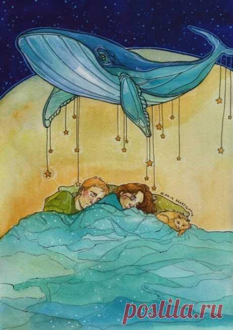Сказочных сновидений!  #сказки #фентези #спокойнойночи@kotabauna #сладкихснов #ночь #котбаюн