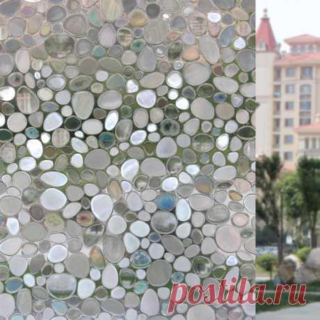 60 см x 200 см Окна конфиденциальности Плёнки, Премиум без клея 3D статический цепляются Кухня Стекло окна Стикеры самоклеющиеся Домашний Декор 13 купить на AliExpress