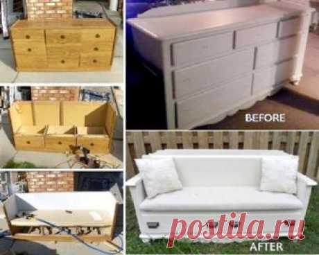 Идеи, как вдохнуть жизнь в старую мебель