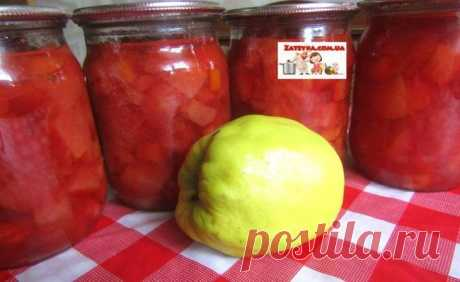 Jam from a quince with orange