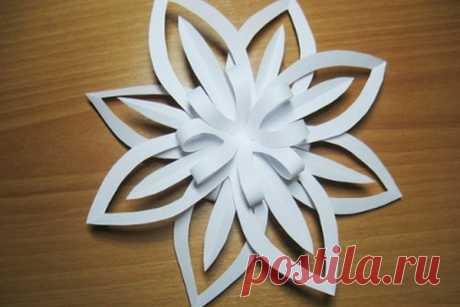 Объемная снежинка из бумаги своими руками: схемы, шаблоны, мастер классы, как делать такой декор