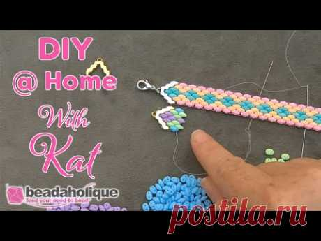 How to Make a SuperDuo Bracelet with Cymbal Bead Endings