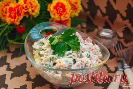 Диетический салат с крабовыми палочками - пошаговый рецепт с фото на Повар.ру