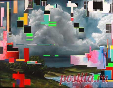 Эта картина о любви к природе художника Антонио Lebedef. Размышления о смысле жизни и о человеческой судьбе. О красоте породы и ее разрушительной силе.Картина Грозовое разрушение-glitch.  Представляет собой попытку переосмыслить красоту природы. На картине изображен пейзаж пасмурным небом, излучающие еще проблескивающий свет и навивающееся бурю. Изящные и в тоже время грозовые облака дают размышления о нежности и красоте природы.  Картина написана при помощи необычного приема. #Lebedef