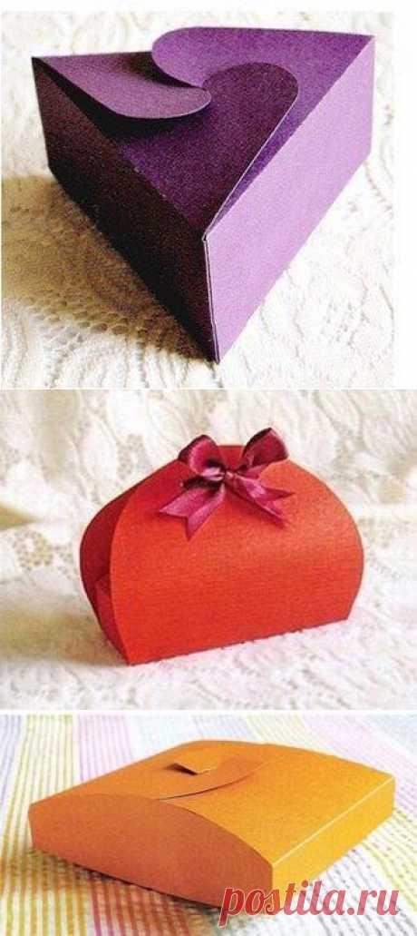 7 подарочных коробок со схемами сборки своими руками