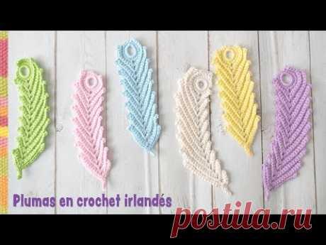 Plumas reversibles en crochet irlandés (rectas y curvas) / Tejiendo Perú