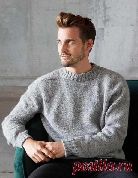 Вязаный мужской пуловер Erik - Вяжи.ру