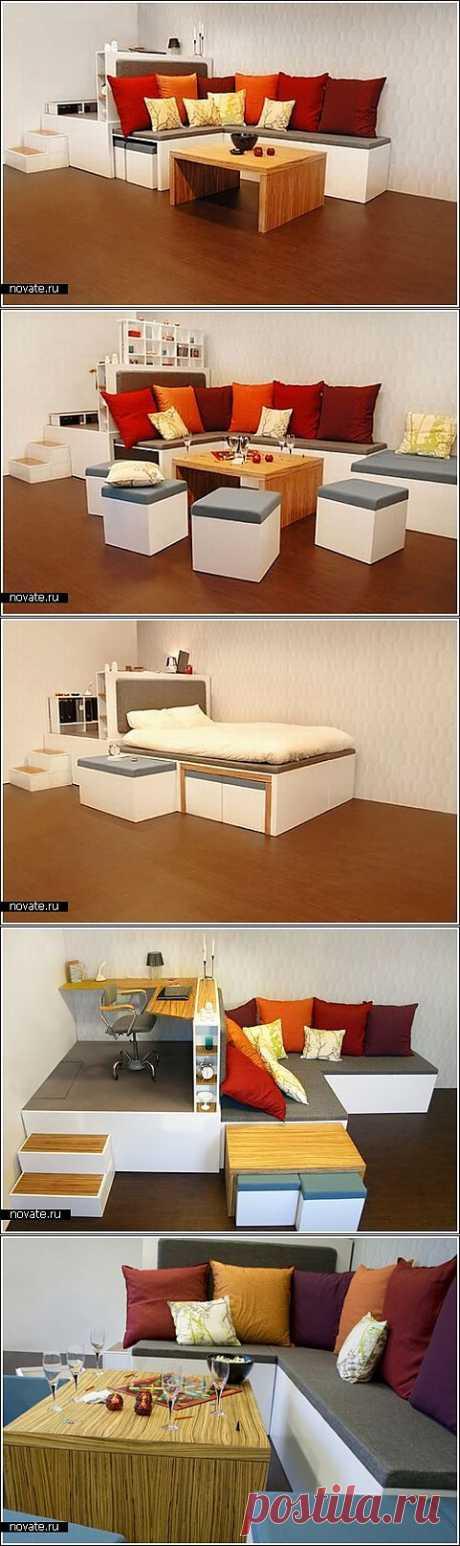 Мебель «Матрешка» на четырех м²   Идеи вашего дома   Архитектура и интерьер