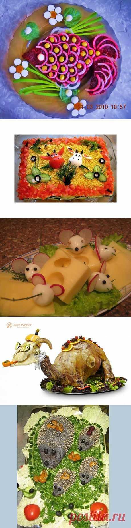 Украшение салатов и вторых блюд. Великолепная подборка! | Любимые рецепты