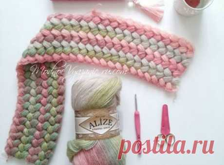 Узор из пышных столбиков - Crochet.Modnoe Vyazanie ru.rom