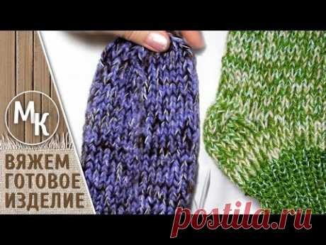 Носки на 5 спицах, вяжем мужские и женские носки, вязаные носки 36 и 38 размеров, МК, видеоурок. - YouTube
